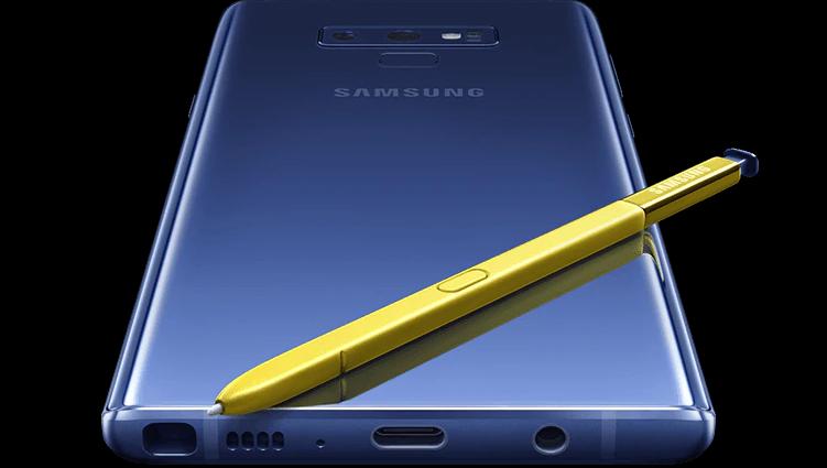 Samsung Galaxy Note 9 med penn